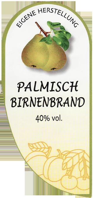 Etikett Palmisch