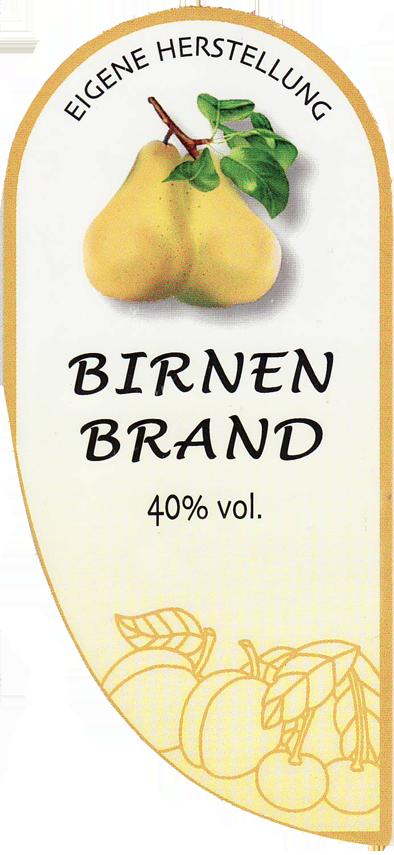 Etikett Birne