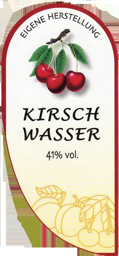 Etikett Kirsche