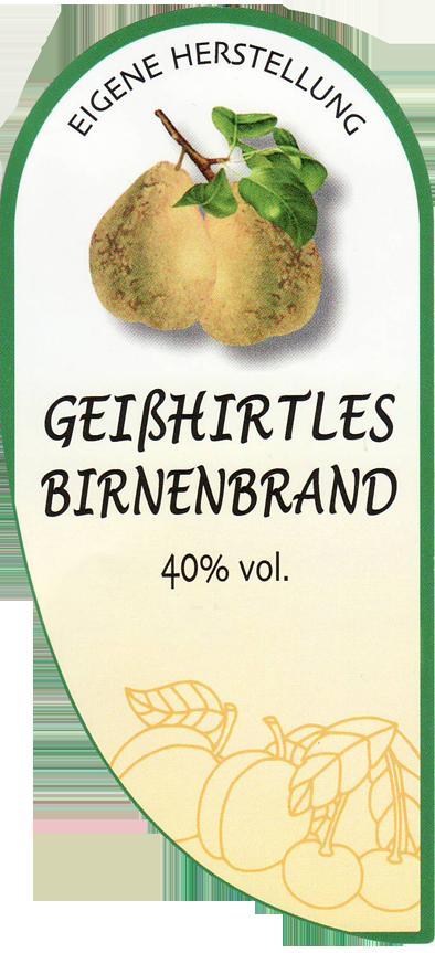 Etikett Geißhirtle